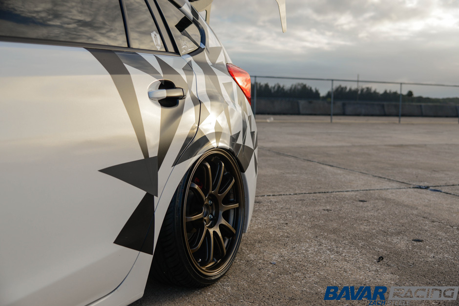Subaru Impreza Hatchback FB20 on Bavar Racing BVR03 Gloss Bronze Wheels